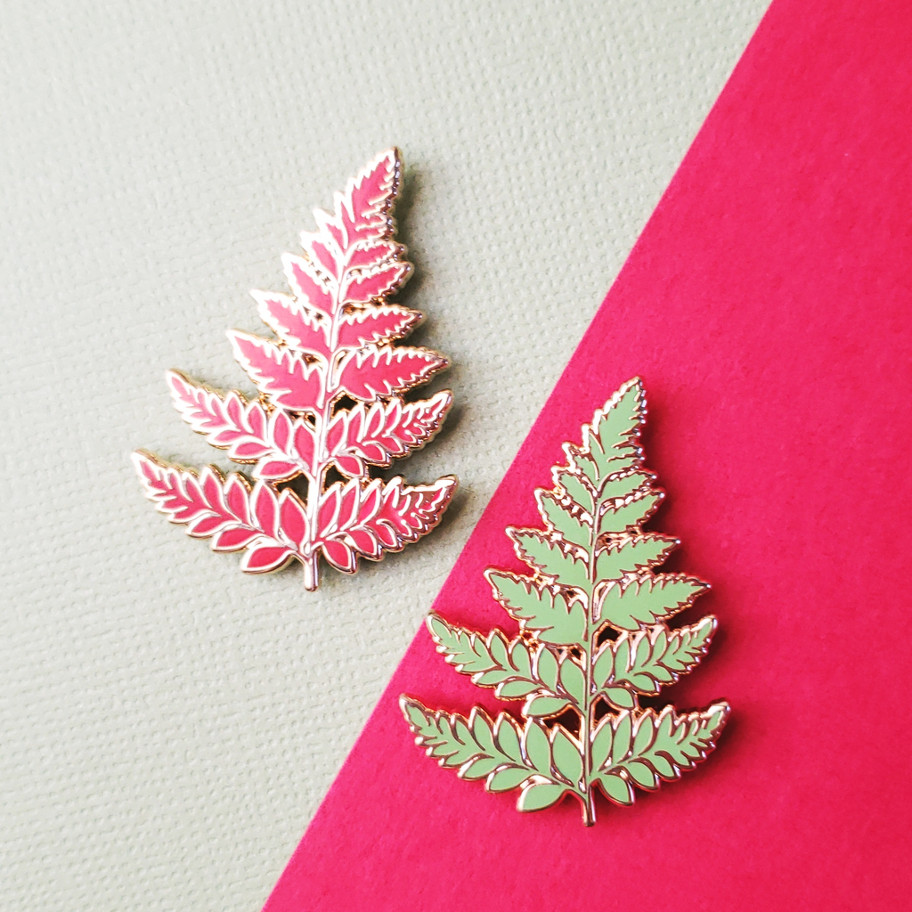 Fern Leaf Enamel Pin