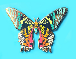 Sunset Moth Pin