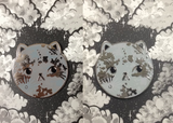Moon Kitty Pins - Faux Fox Studio x Zindyconz