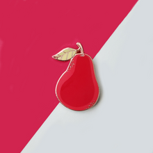Load image into Gallery viewer, Red or Green Bartlett Pear Enamel Pin