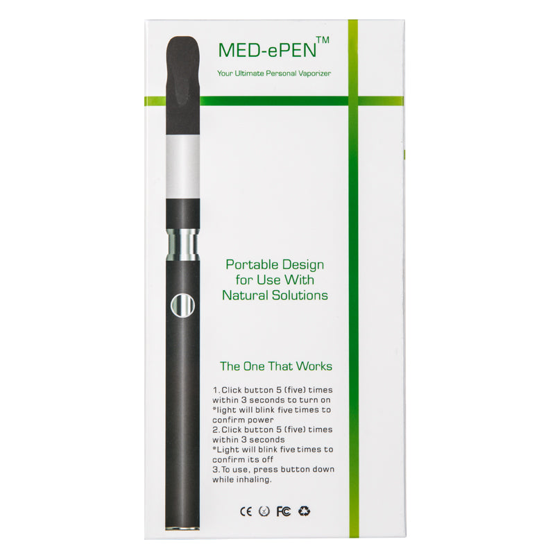 Med-ePen™ Slim Vape Pen w/ USB Charger in Retail Box *10 count*