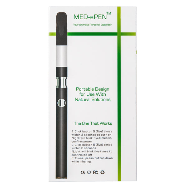 Med-ePen™ Slim Vape Pen w/ USB Charger in Retail Box