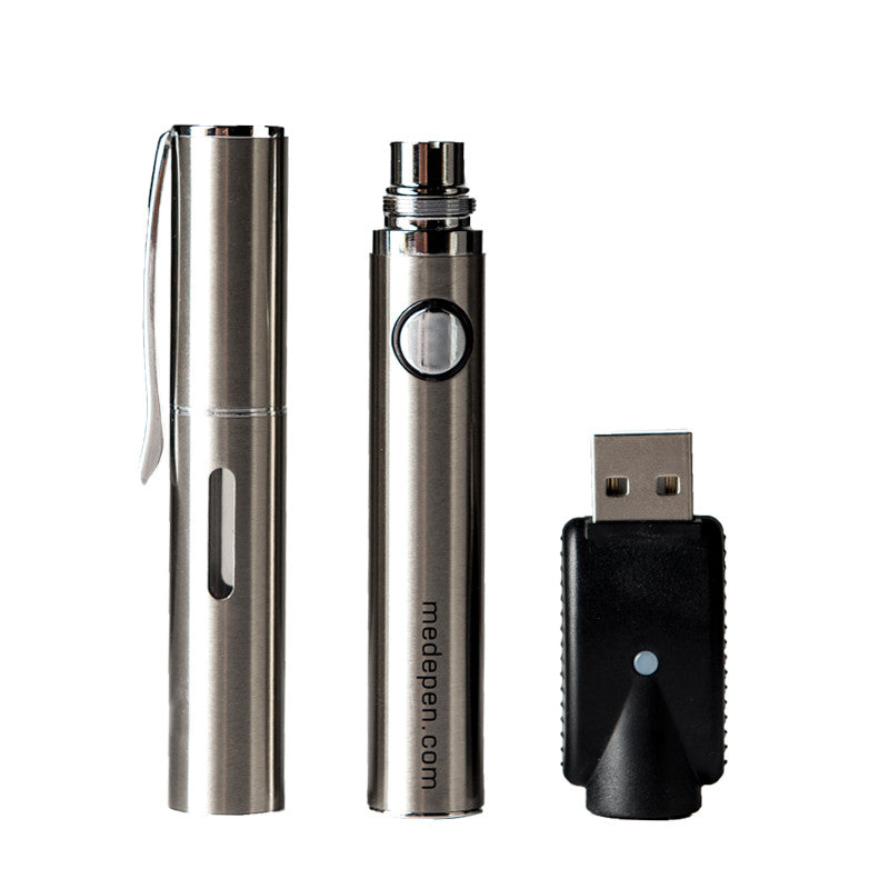 Med-ePen Executive Refillable Vape Pen - Silver