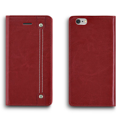 iPhone 6/6s Faux Leather Wallet Case - RED