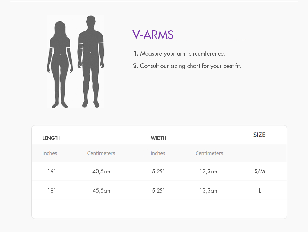 V-Arms Size Guide