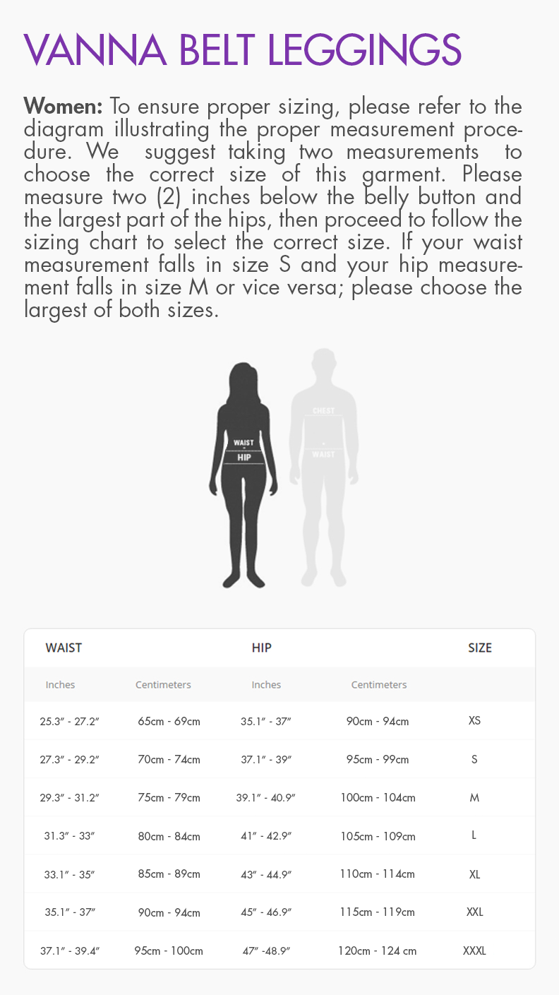 V-Leggings Size Guide