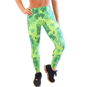 Graphic colored pants