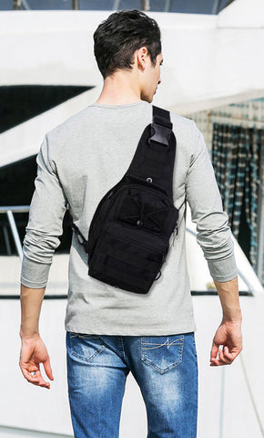 Tactical Shoulder Bag Back
