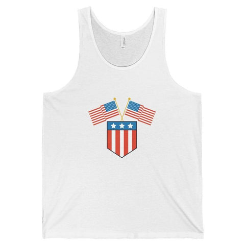 American Flag Crest Tank Top