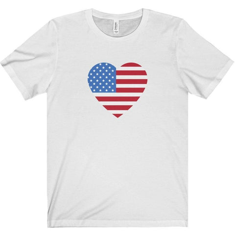USA Flag Heart Shirt