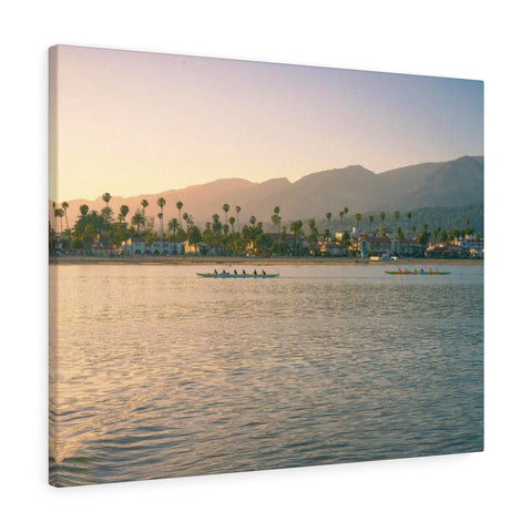 Santa Barbara Beach View Premium Wall Canvas