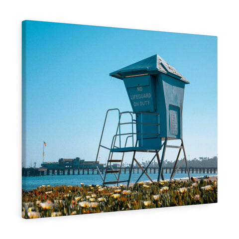 Santa Barbara Lifeguard Premium Wall Canvas