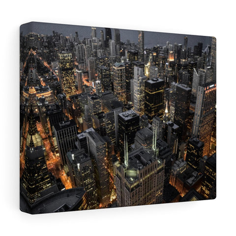 Chicago Lights Premium Wall Canvas