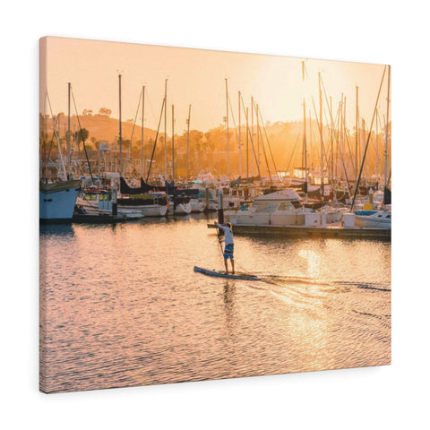 Santa Barbara SUP Premium Wall Canvas