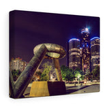 Detroit Hart Plaza Premium Wall Canvas