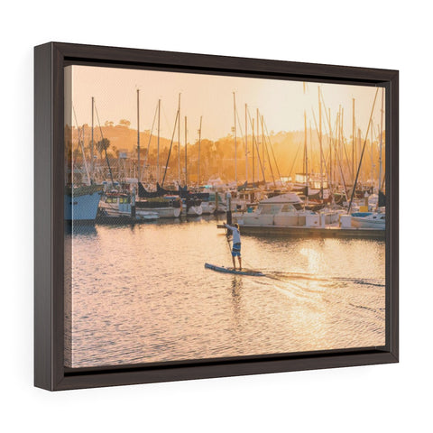 Santa Barbara SUP Premium Framed Wall Canvas