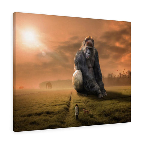 Gorilla King Premium Wall Canvas