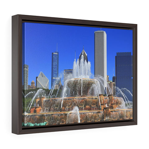 Buckingham Fountain Premium Framed Wall Canvas