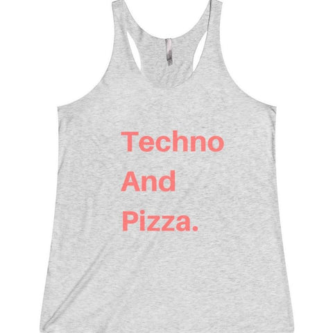 Techno And Pizza Women's Tank Top