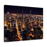 Chicago Nights Premium Wall Canvas