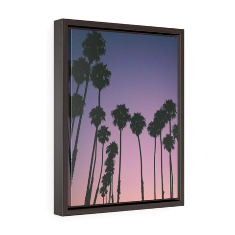Santa Barbara Palm Trees Premium Framed Wall Canvas