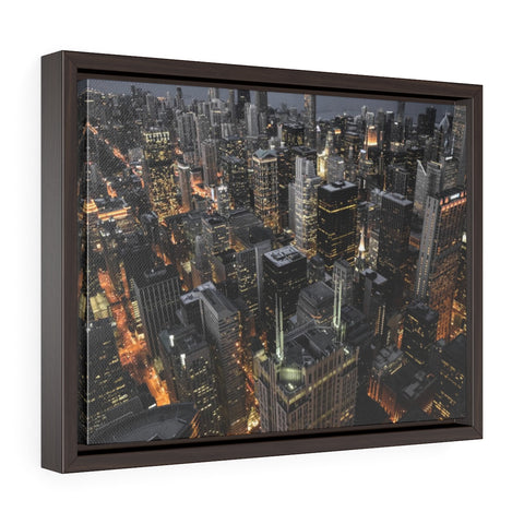 Chicago Nights Premium Framed Wall Canvas