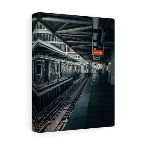 Chicago Orange Line Wall Canvas