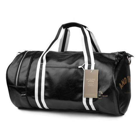 Vintage Style Gym Bag Black