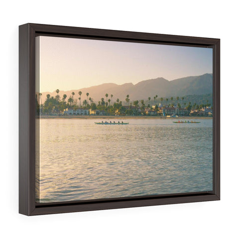 Santa Barbara Beach View Premium Framed Wall Canvas