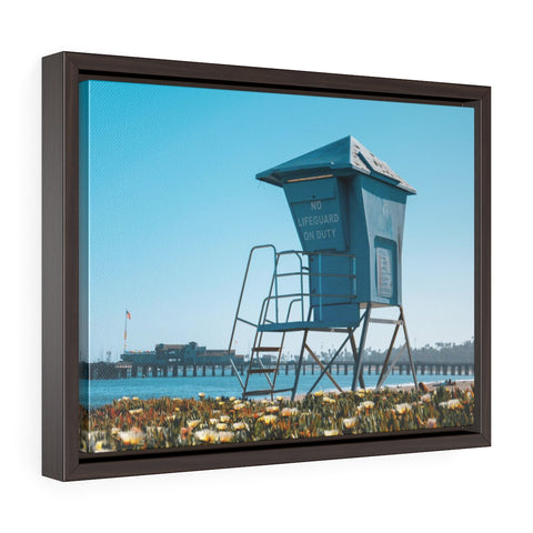 Santa Barbara Lifeguard Premium Framed Wall Canvas