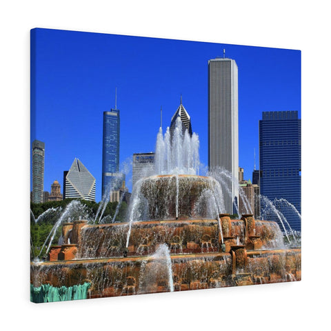 Buckingham Fountain Premium Wall Canvas