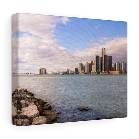 Detroit River View Daytime Premium Wall Canvas