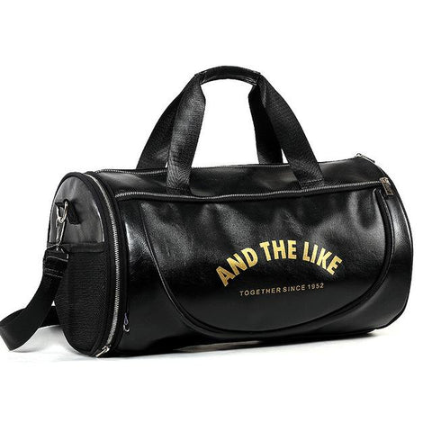 Vintage Gym Bag black and gold