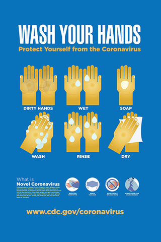 13x19 Wash Your Hands Poster