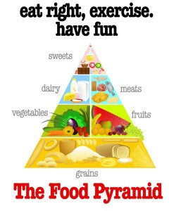 The Food Pyramid Poster 16×20