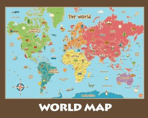 World Map Poster 16×20