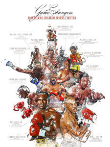 18x24 Boxing Legends