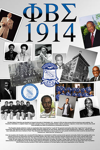 Phi Beta Sigma Fraternity Poster