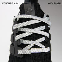 Gray 3M Reflective Flat Laces