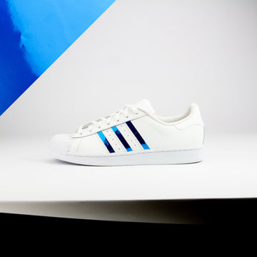 Blue Chrome Superstar Stripes