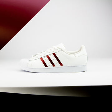 Burgundy Superstar Stripes