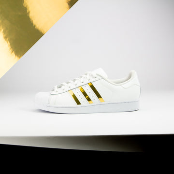 Gold Chrome Superstar Stripes