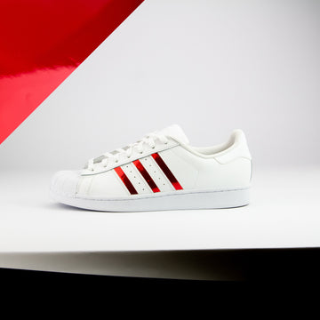 Red Chrome Superstar Stripes