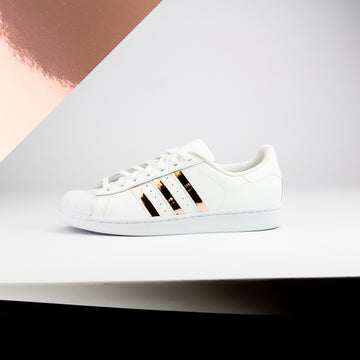 Rose Gold Chrome Superstar Stripes
