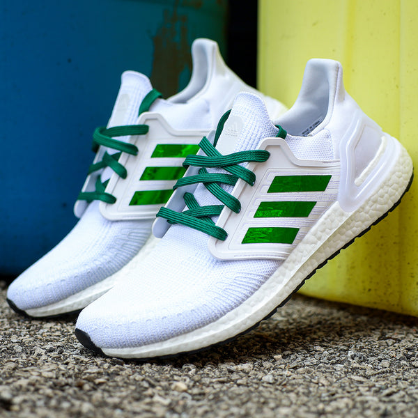Green Boosted Flat Laces