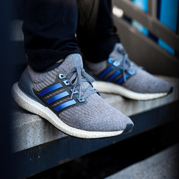 Ice Blue Color Shift Ultra Boost Stripes