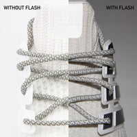 Light Gray 3M Reflective Round Laces