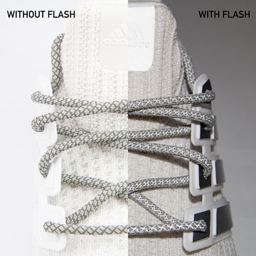 Light Gray 3M Reflective Rope Laces
