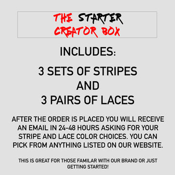 Starter Creator Box - (You Choose 3 Sets of Stripes & 3 Pairs of Laces)