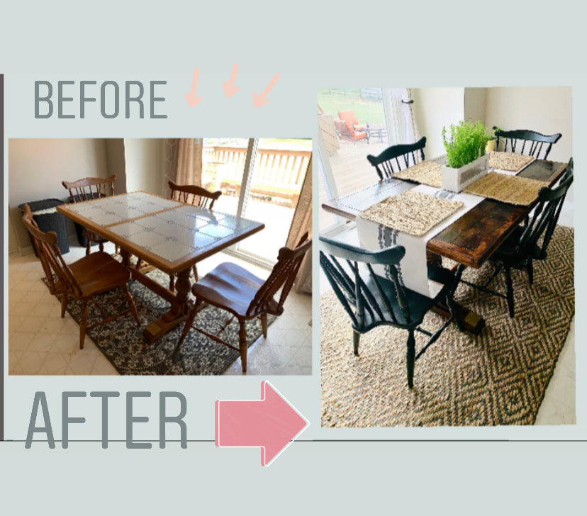DIY: Tile Table to Farm House Table
